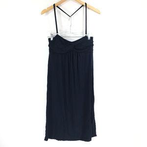 J Crew M Navy Blue Halter Strapless Dress